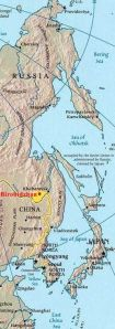 Carte Birobidjan
