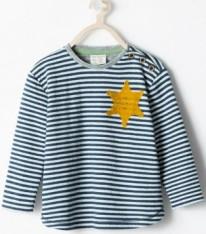 Zara tee shirt étoile jaune