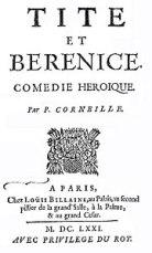 Corneille Tite et Bérénice