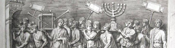 Titus Menorah 7 branches et trompettes ag
