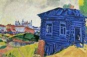 Chagall : La maison bleue