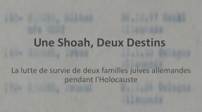 shoah-deux destins original