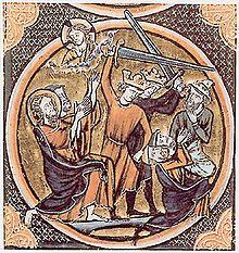 Massacre de Juifs (Bible du XIIIe siècle)