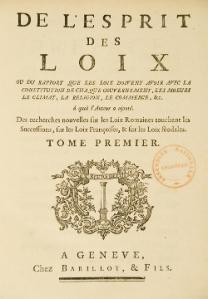 De l esprit des lois - Montesquieu
