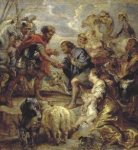 Rubens : Réconciliation de Jacob et d'Esaü