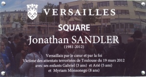 Plaque Jonathan Sandler