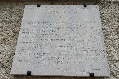 Plaque Léon Blum
