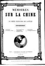 Mémoires sur la Chine
