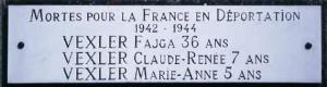 Plaque Vexler (F.Viey)