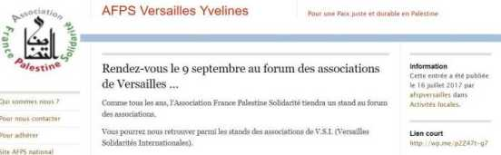 AFPS Annonce Forum Assoc Versailles