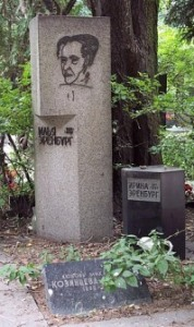 Tombe d'Ilya Ehrenbourg avec gravure de Picasso