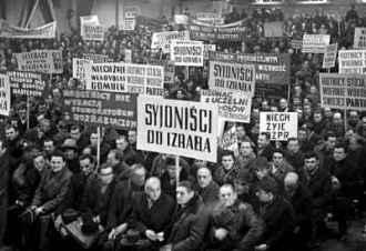 20 mars 1968 Pologne sionistes en Israel