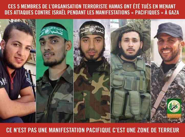 5 membres du Hamas tués 5
