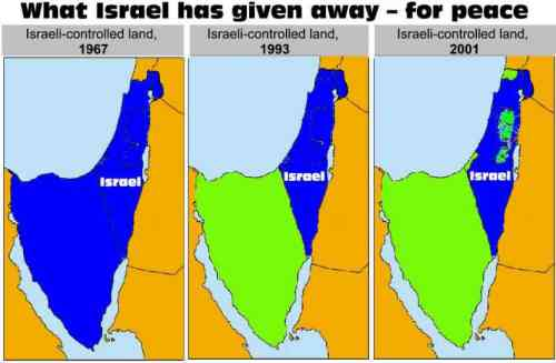 Israel territoires rendus 1