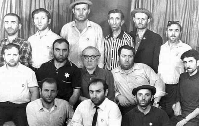 Juifs géorgiens en grève de la faim dans le bâtiment du Central Telegraph, Moscou, 1971