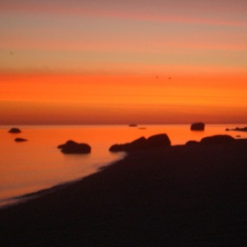 Miller_Place_Beach_at_Dawn;_Red_Sky.JPG